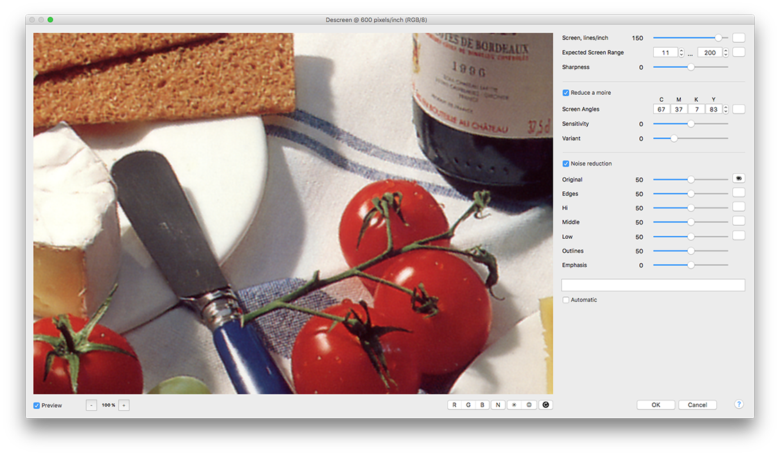 Descreen Plug In For Adobe Photoshop Professional Edition User Guide